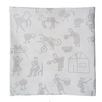 Printed cotton fabric with storytelling design Penduka