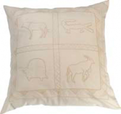 Woonkamer: Cushion cover wild animal cream