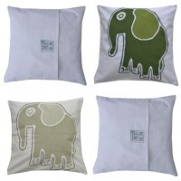 tuli cushion beige and green